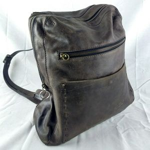 Nino Bossi Distressed Brown Leather Backpack 193-6